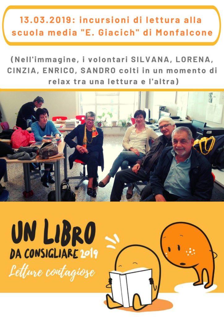 """Incursione di lettura nella scuola media """"E. Giacich"""" di Monfalcone"""