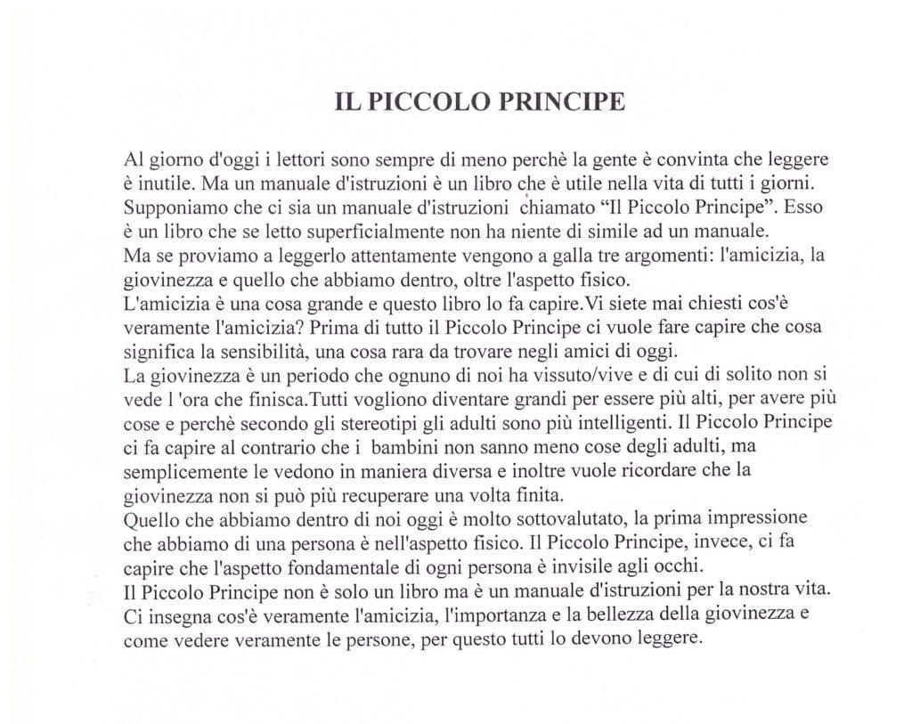 """Il piccolo principe"""" di Antoine de Saint-Exupéry – Un libro"""